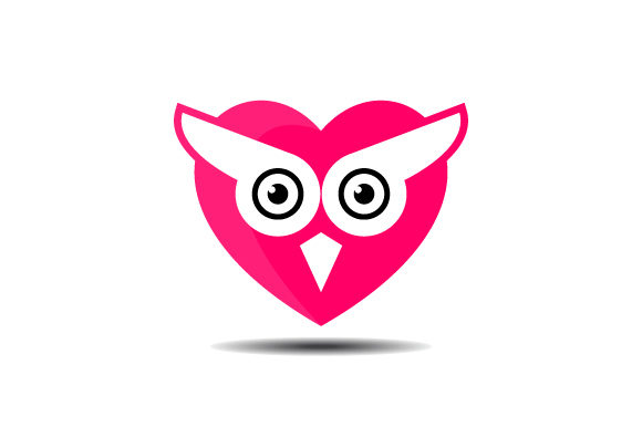 Owl Love Heart Vector Logo Graphic By Hartgraphic Creative Fabrica