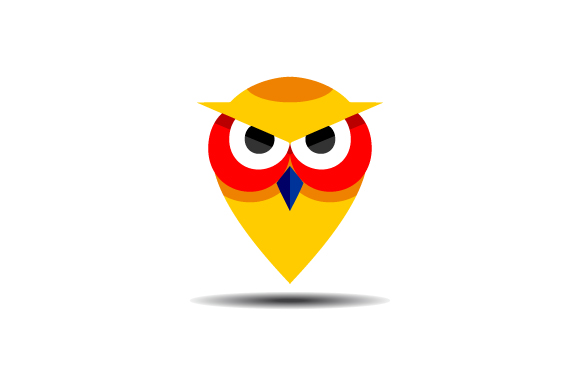 Download Free Owl Pin Location Vector Logo Graphic By Hartgraphic Creative for Cricut Explore, Silhouette and other cutting machines.