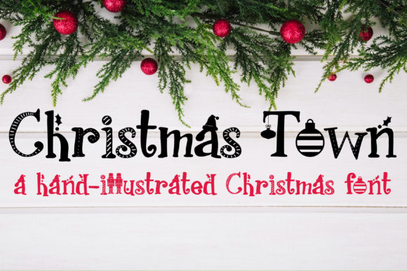 Print on Demand: PN Christmas Town Script & Handwritten Font By Illustration Ink