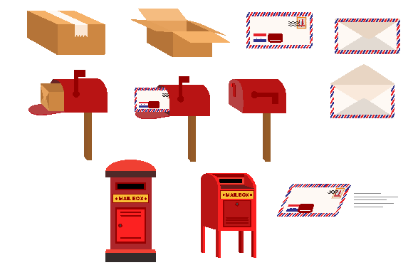 Package Mail Post Graphic Icons By dstudio
