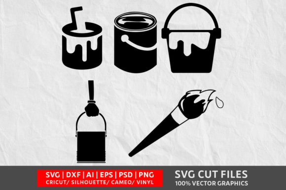 Download Free Paint Bucket Graphic By Design Palace Creative Fabrica SVG Cut Files