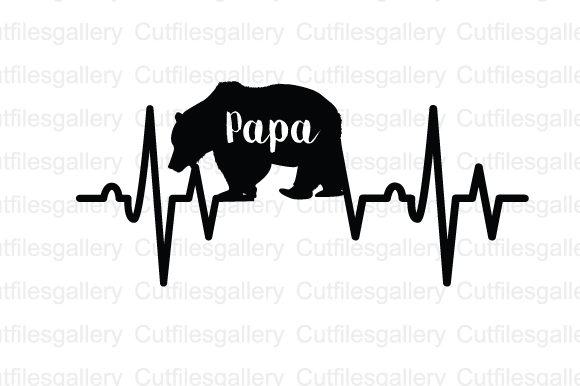 Papa Bear Heartbeat Svg Graphic By Cutfilesgallery Creative