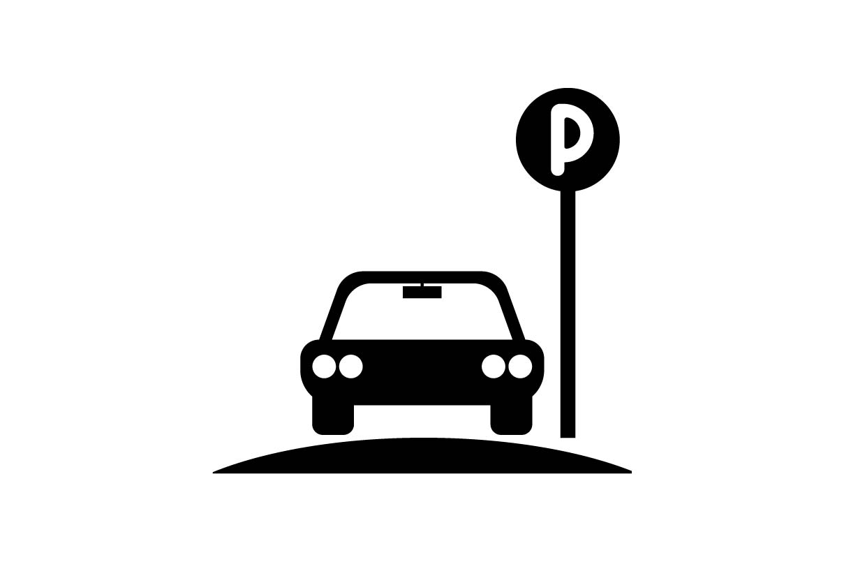 Download Free Parking Monochrome Icon Vector Graphic By Hoeda80 Creative Fabrica for Cricut Explore, Silhouette and other cutting machines.