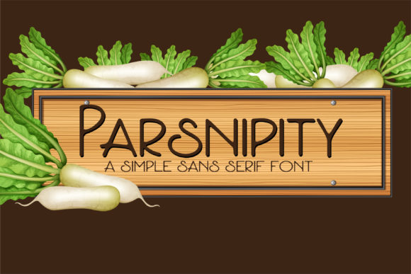 Print on Demand: Parsnipity Sans Serif Font By Illustration Ink