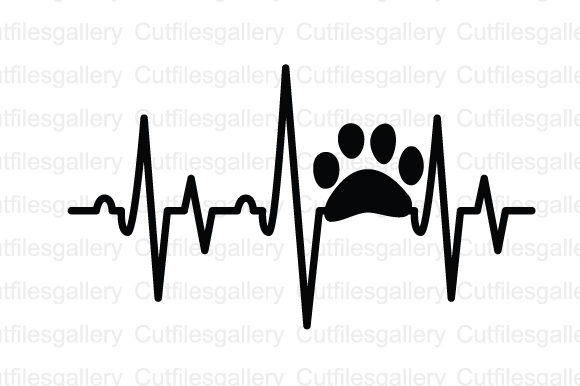 Download Free Paw Heartbeat Graphic By Cutfilesgallery Creative Fabrica for Cricut Explore, Silhouette and other cutting machines.