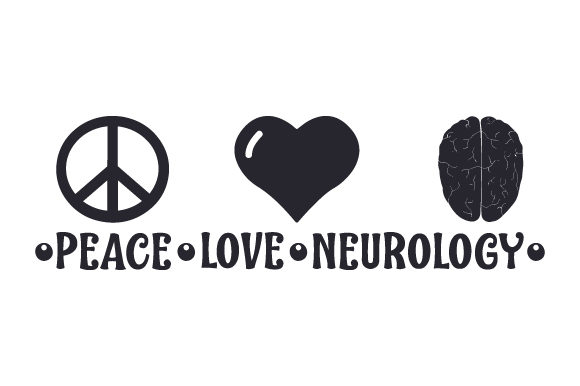 Download Free Peace Love Neurology Svg Cut File By Creative Fabrica Crafts for Cricut Explore, Silhouette and other cutting machines.