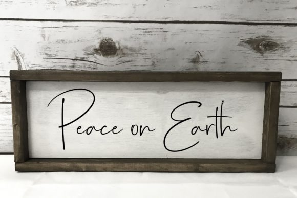 Download Free Peace On Earth Svg Graphic By Studio 26 Design Co Creative Fabrica for Cricut Explore, Silhouette and other cutting machines.