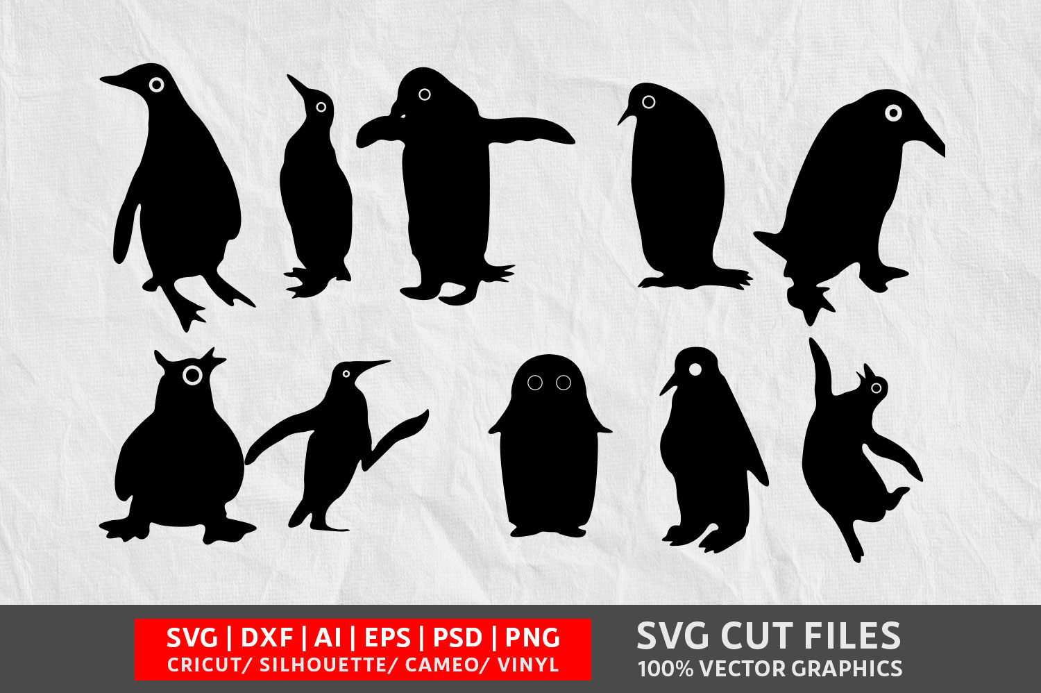 Download Free Penguin Graphic By Design Palace Creative Fabrica for Cricut Explore, Silhouette and other cutting machines.