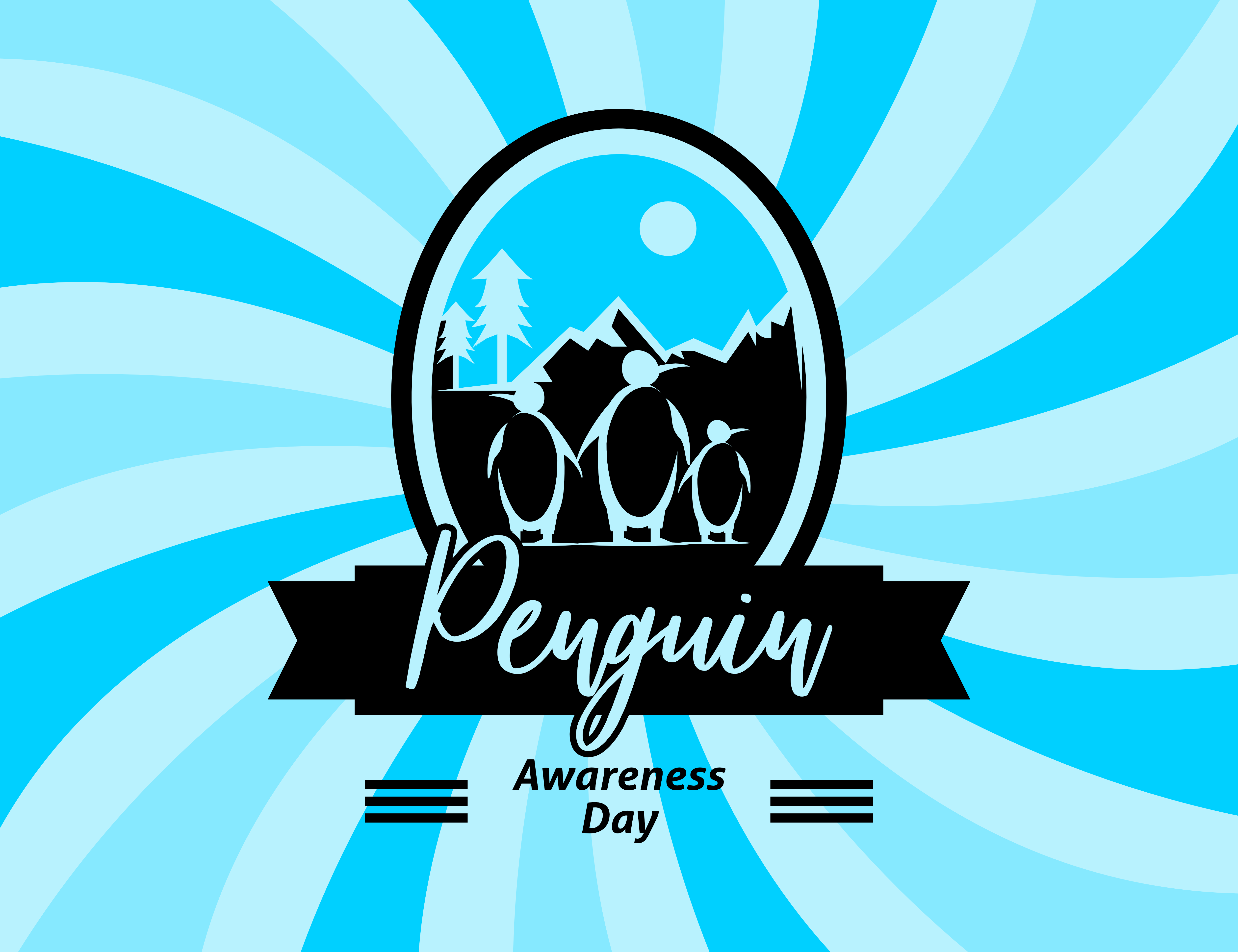 Download Free Penguin Awareness Day Vector Illustration Graphic By Meisuseno for Cricut Explore, Silhouette and other cutting machines.