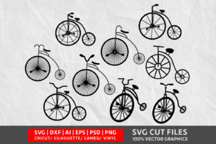 Penny Farthing SVG Graphic By Design Palace