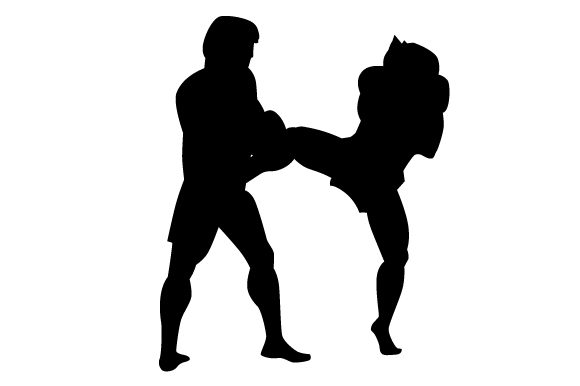 Download Free People Kickboxing Silhouette Svg Cut File By Creative Fabrica for Cricut Explore, Silhouette and other cutting machines.