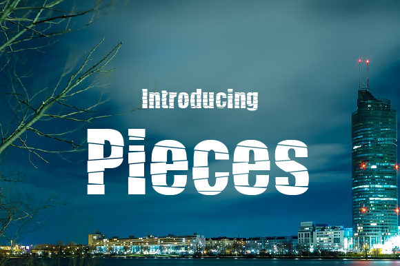 Pieces Display Font By da_only_aan