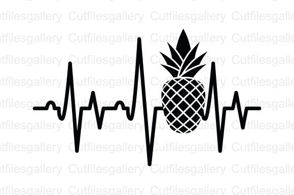 Download Free Pineapple Heartbeat Graphic By Cutfilesgallery Creative Fabrica for Cricut Explore, Silhouette and other cutting machines.