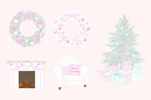 Download Free Pink Christmas Clipart Graphic By Lilyuri0205 Creative Fabrica for Cricut Explore, Silhouette and other cutting machines.
