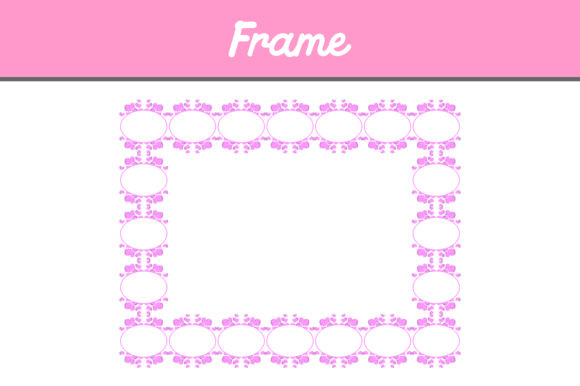 Print on Demand: Pink Frame Ornament Pattern Graphic Backgrounds By Arief Sapta Adjie II