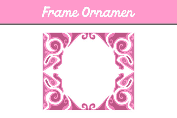 Print on Demand: Pink Frame Ornament Graphic Backgrounds By Arief Sapta Adjie - Image 1