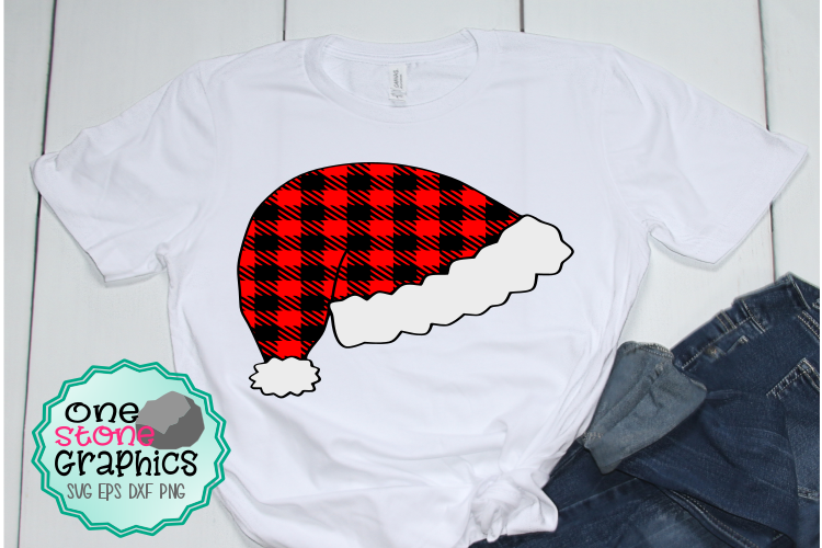 Download Free Plaid Santa Hat Svg Graphic By Onestonegraphics Creative Fabrica for Cricut Explore, Silhouette and other cutting machines.