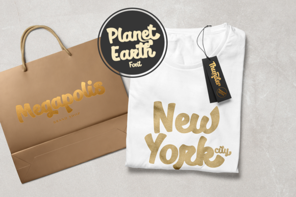 Print on Demand: Planet Earth Script & Handwritten Font By Pasha Larin - Image 3