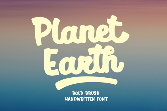 Planet Earth Script & Handwritten Font By Pasha Larin