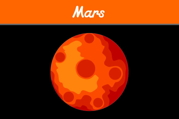 Print on Demand: Planet Mars Graphic Icons By Arief Sapta Adjie