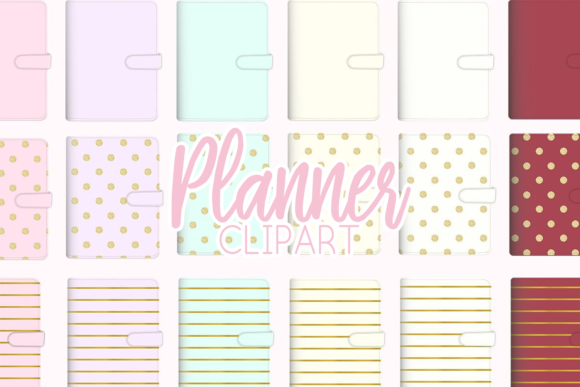 Download Free Planner Binder Clipart Illustration Graphic By Lilyuri0205 for Cricut Explore, Silhouette and other cutting machines.