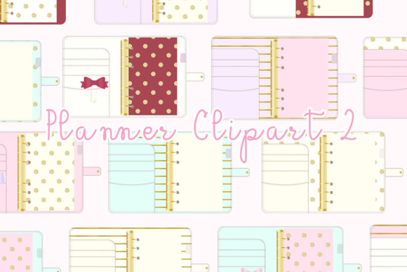 Print on Demand: Planner Binder Clipart Graphic Illustrations By lilyuri0205