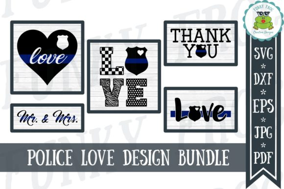Download Free Police Love Design Bundle Graphic By Funkyfrogcreativedesigns for Cricut Explore, Silhouette and other cutting machines.