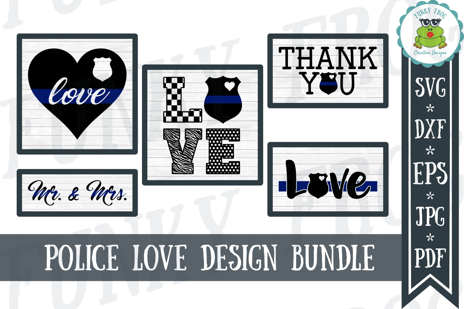 Police Love Design Bundle Graphic By Funkyfrogcreativedesigns