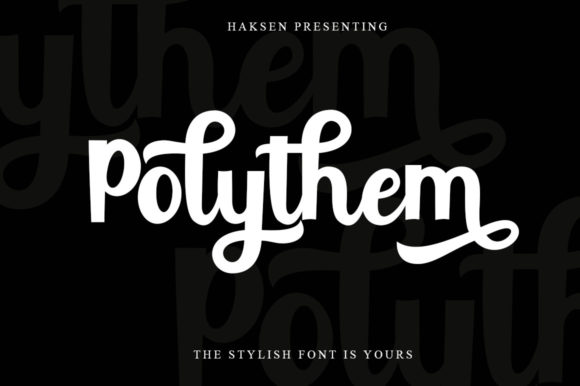 Print on Demand: Polythem Script & Handwritten Font By Haksen