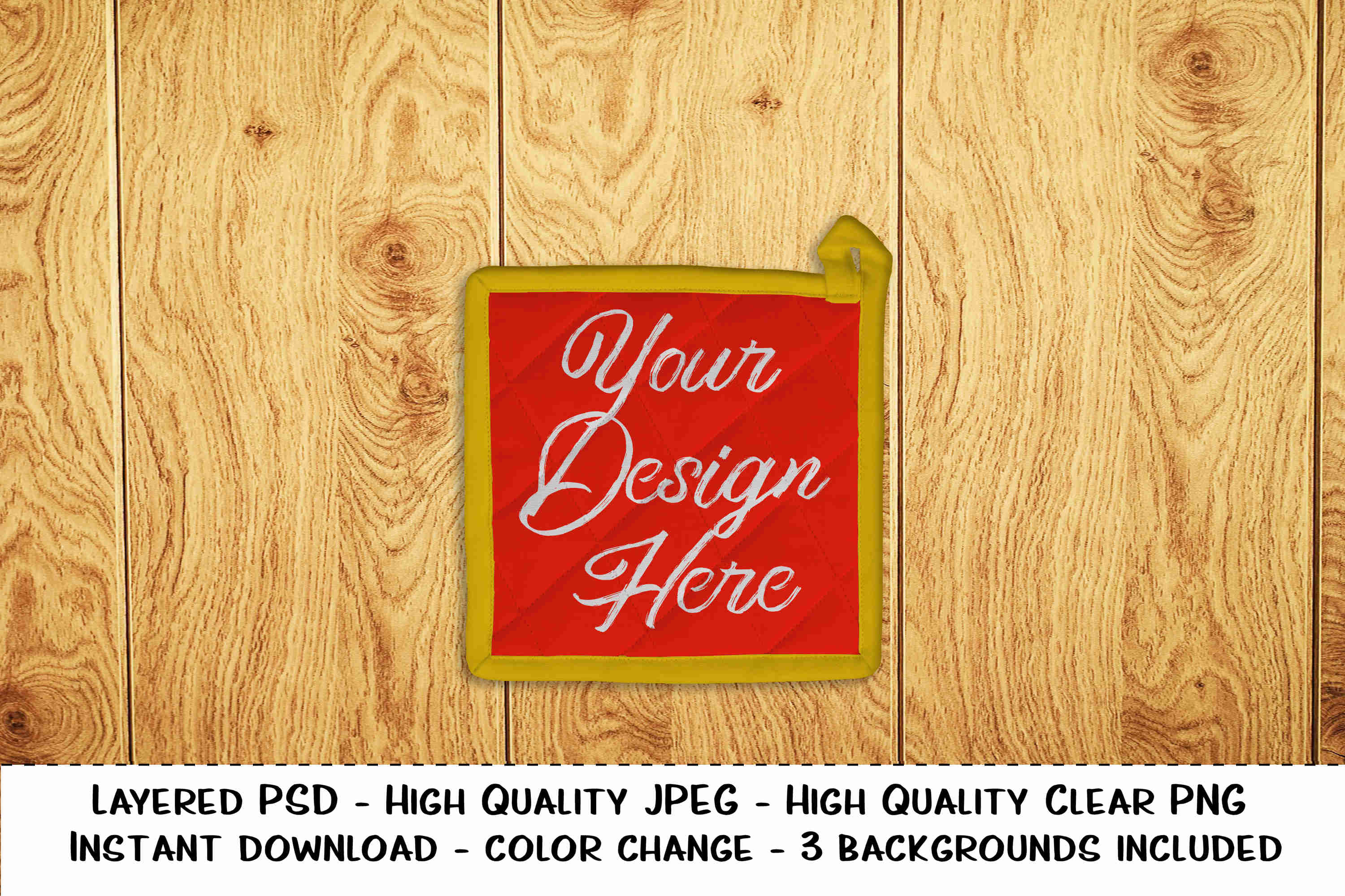 Download Free Pot Holder Editable Photo Realistic Product Mockup Graphic By for Cricut Explore, Silhouette and other cutting machines.