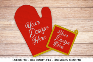 Download Free Pot Holder Oven Mitt Set Product Mockup Graphic By Printbeat for Cricut Explore, Silhouette and other cutting machines.