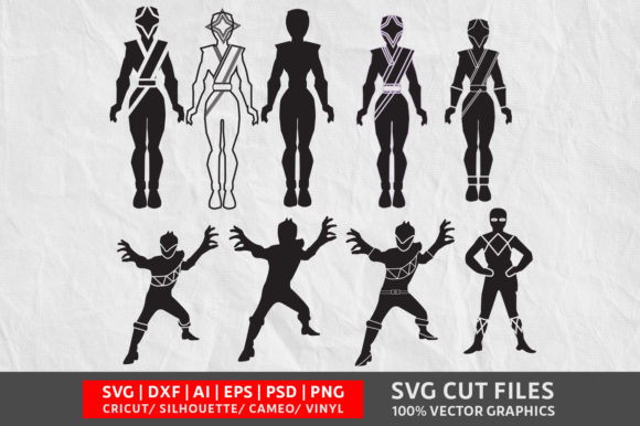 Power Ranger SVG Cut File Graphic By Design Palace Image 1
