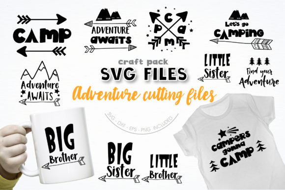 Pretty Cuttables Adventure Cut Files Graphic Crafts By PrettyCuttables