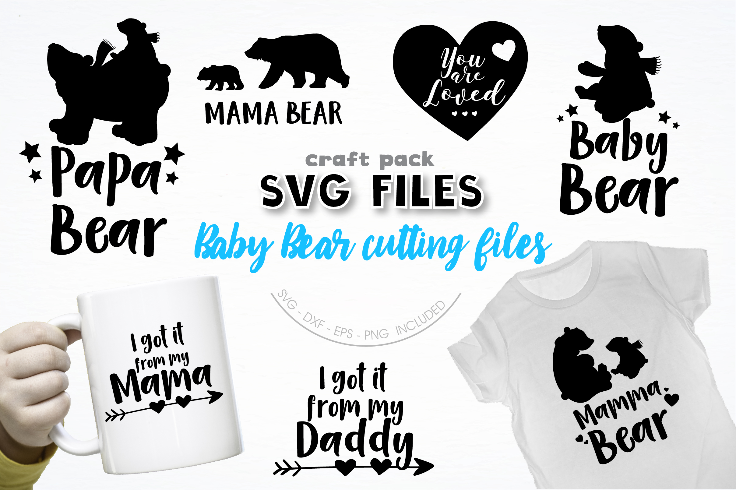 Download Free Pretty Cuttables Baby Bear Cut Files Graphic By Prettycuttables for Cricut Explore, Silhouette and other cutting machines.