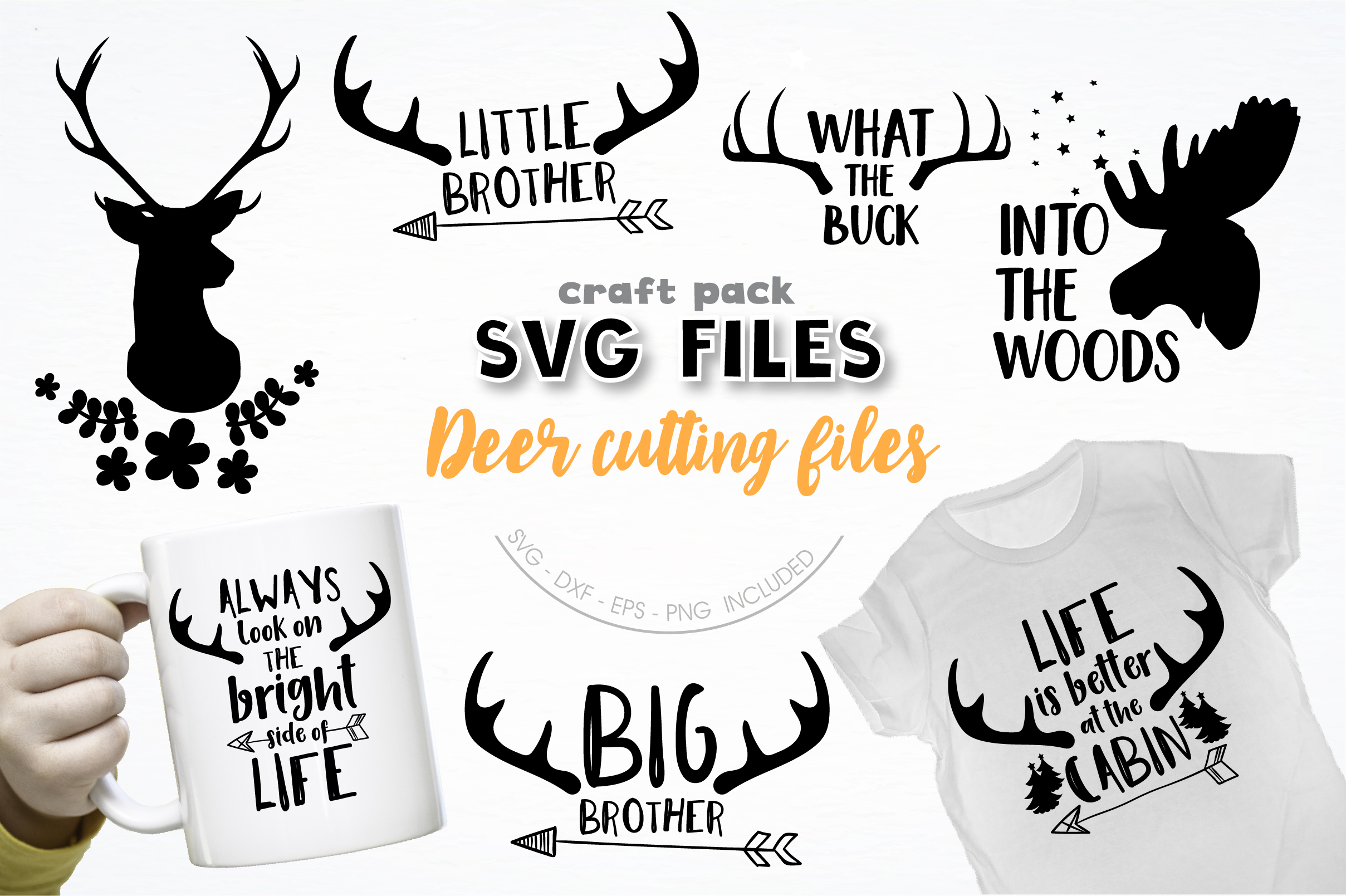 Download Free Pretty Cuttables Deer Cut Files Graphic By Prettycuttables for Cricut Explore, Silhouette and other cutting machines.