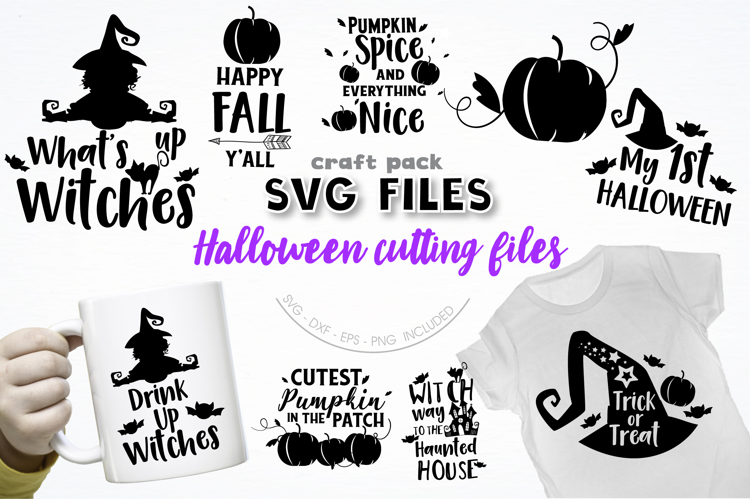Download Free Pretty Cuttables Halloween Cut Files Graphic By Prettycuttables for Cricut Explore, Silhouette and other cutting machines.