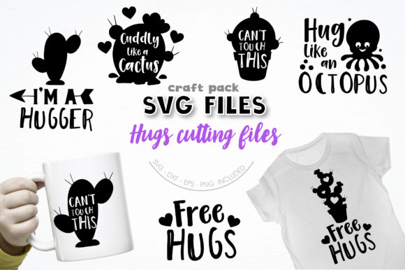 Download Free Pretty Cuttables Hugs Cut Files Graphic By Prettycuttables for Cricut Explore, Silhouette and other cutting machines.