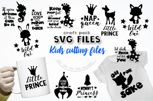 Pretty Cuttables Kids Cut Files Graphic Crafts By PrettyCuttables