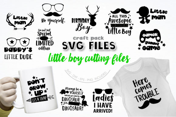 Pretty Cuttables Little Boy Cut Files Graphic Crafts By PrettyCuttables - Image 1
