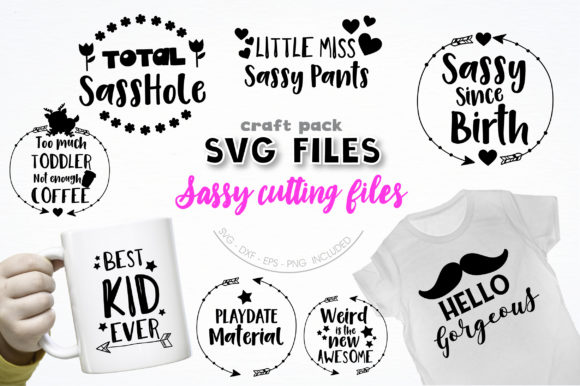 Pretty Cuttables Sassy Cut Files Graphic Crafts By PrettyCuttables