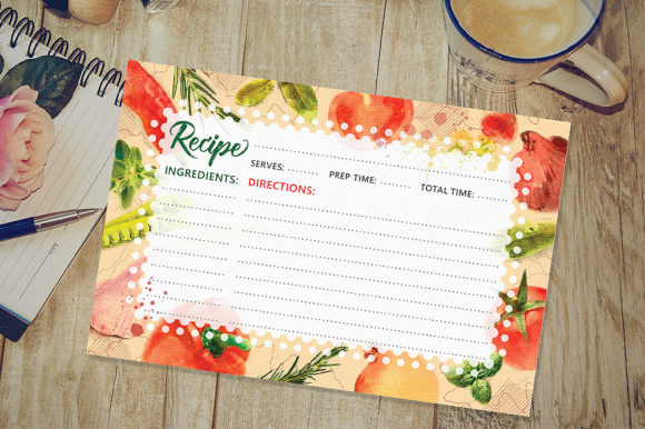 Download Free Printable Recipe Card Graphic By Danieladoychinovashop for Cricut Explore, Silhouette and other cutting machines.