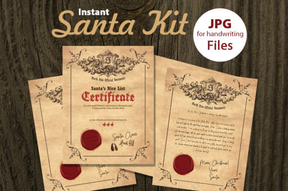 Download Free Printable Santa Kit Graphic By Danieladoychinovashop Creative for Cricut Explore, Silhouette and other cutting machines.