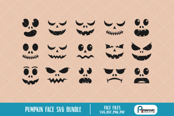 Download Free Pumpkin Face Bundle Graphic By Pinoyartkreatib Creative Fabrica for Cricut Explore, Silhouette and other cutting machines.