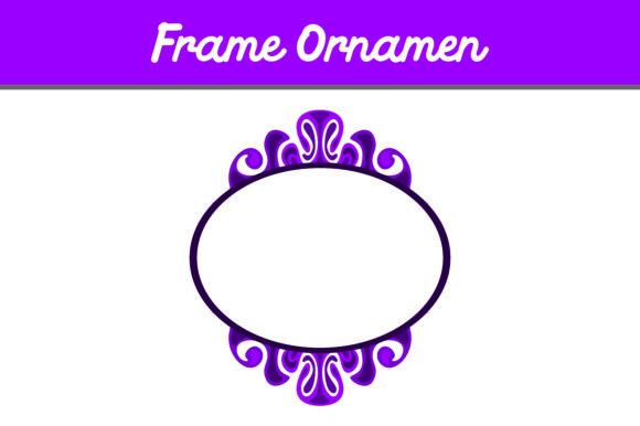 Print on Demand: Purple Frame Ornament Graphic Backgrounds By Arief Sapta Adjie - Image 1