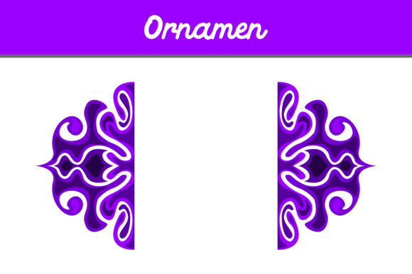 Print on Demand: Purple Ornament Graphic Backgrounds By Arief Sapta Adjie