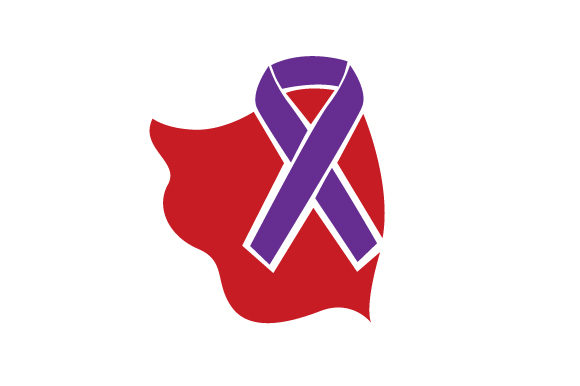 Download Free Purple Ribbon With A Superhero Cape Around It Svg Cut File By for Cricut Explore, Silhouette and other cutting machines.