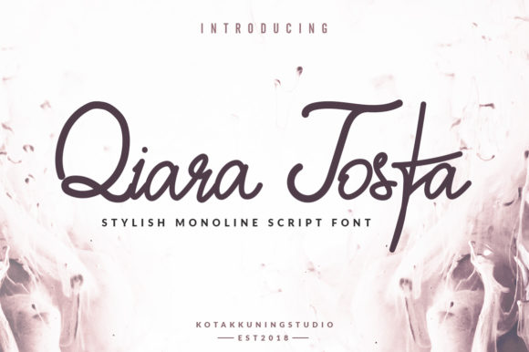 Print on Demand: Qiara Tosfa Script & Handwritten Font By Kotak Kuning Studio