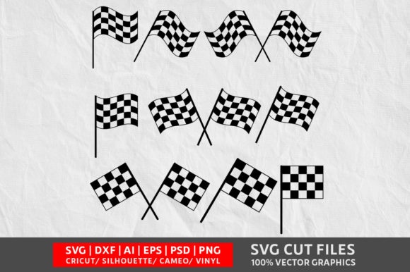 Download Free Racing Flag Svg Graphic By Design Palace Creative Fabrica for Cricut Explore, Silhouette and other cutting machines.