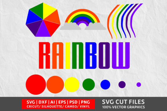 Rainbow SVG Graphic By Design Palace Image 1