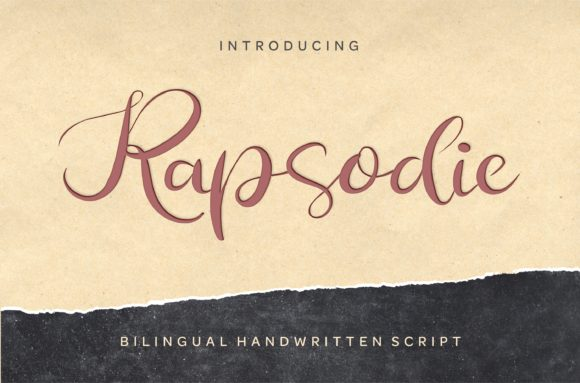 Print on Demand: Rapsodie Script & Handwritten Font By bywahtung